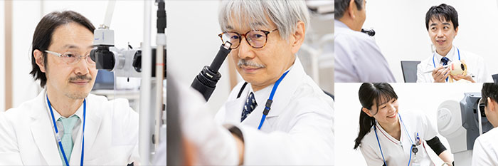 専門家の少ない小児眼科および神経眼科等の分野にも対応できる専門医師もメンバーに加わっています